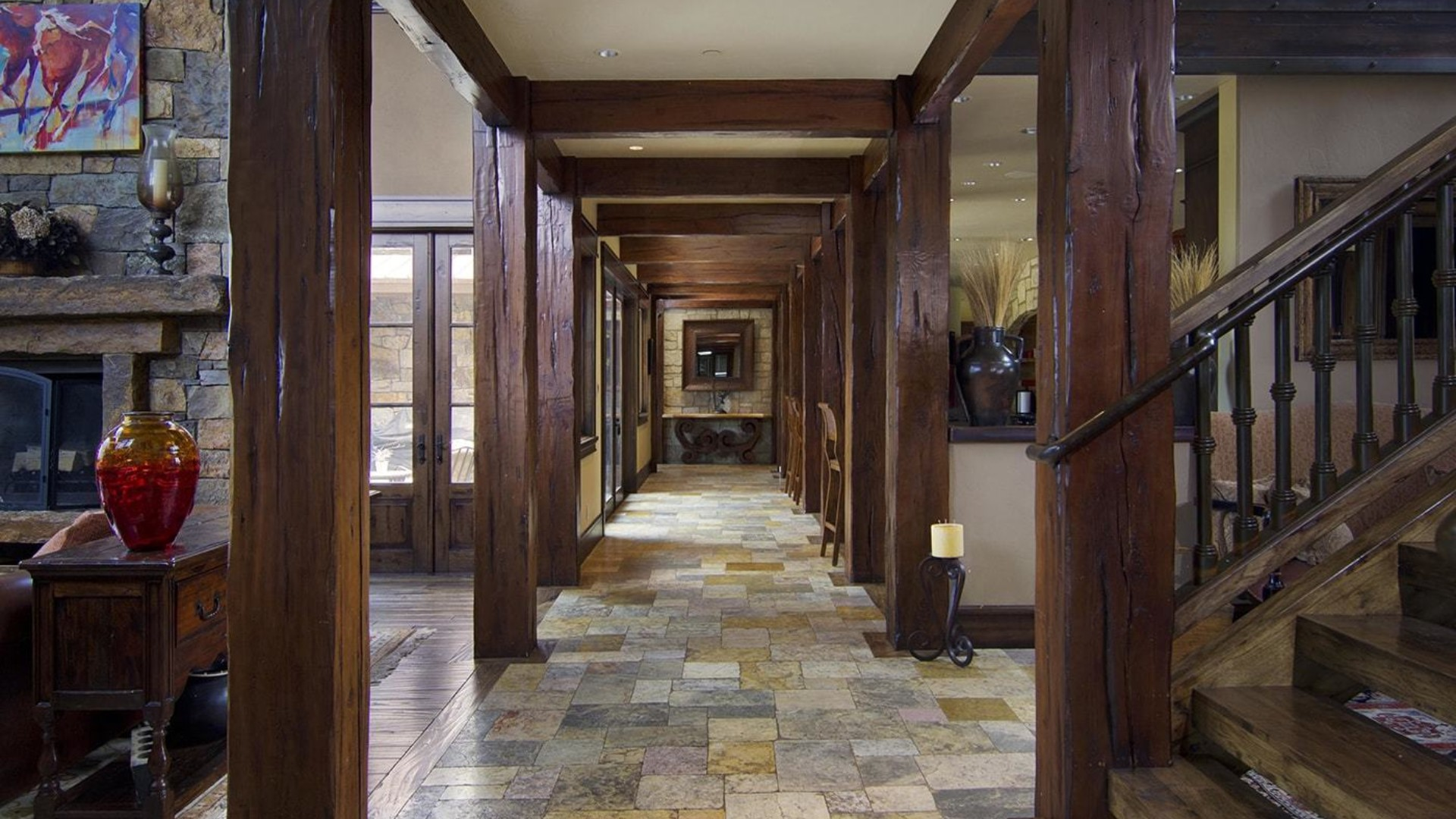 jackson hole mansion hallway